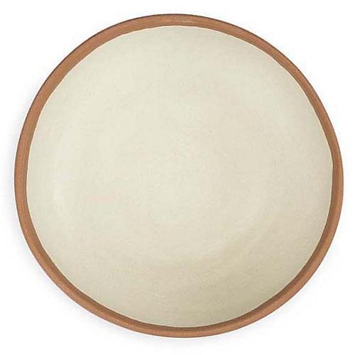 S/4 Potter Melamine Cereal Bowls, Beige/Terracotta