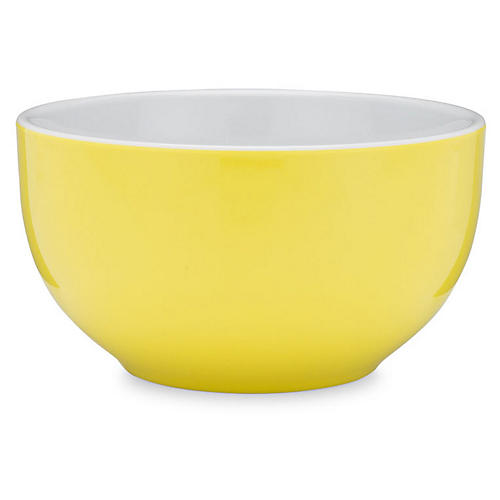 S/4 Bistro Melamine Cereal Bowls, Yellow