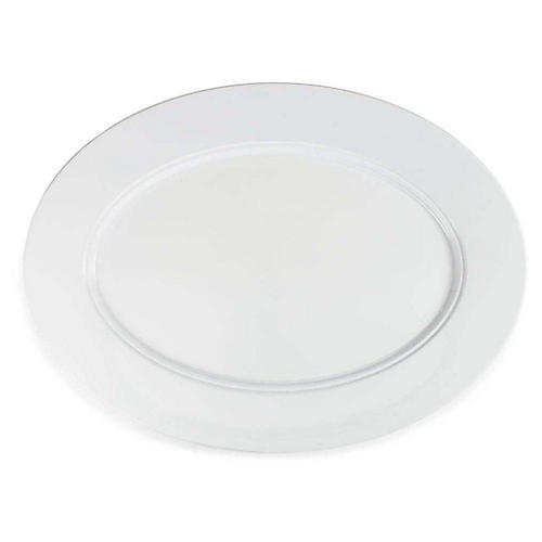 Diamond Oval Melamine Platter, White