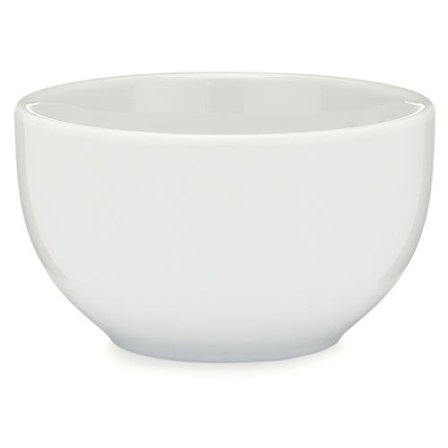 S/4 Diamond Melamine Bowls, White