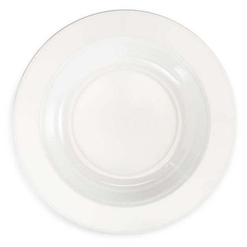 S/4 Diamond Melamine Round Salad Plates, White
