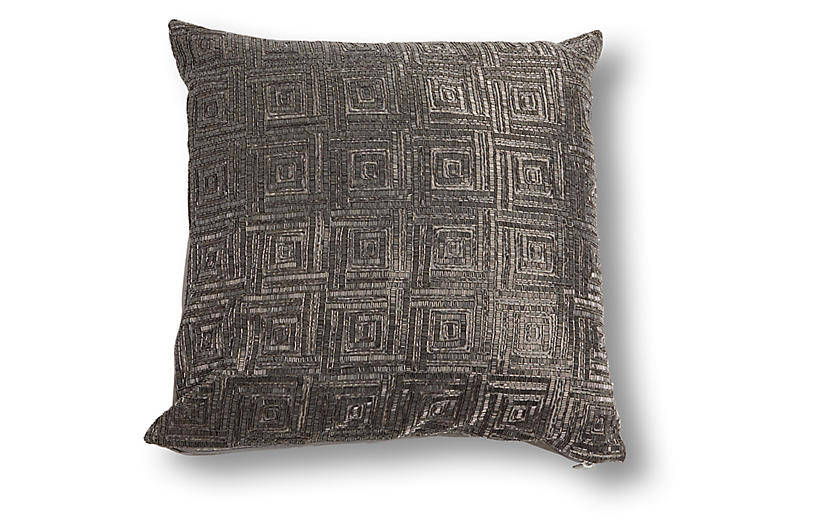 Milano 20x20 Pillow, Pewter
