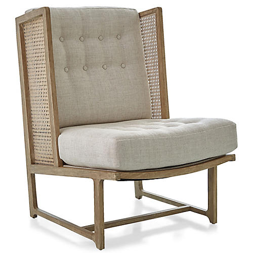 Palm Desert Wingback Chair, Taupe