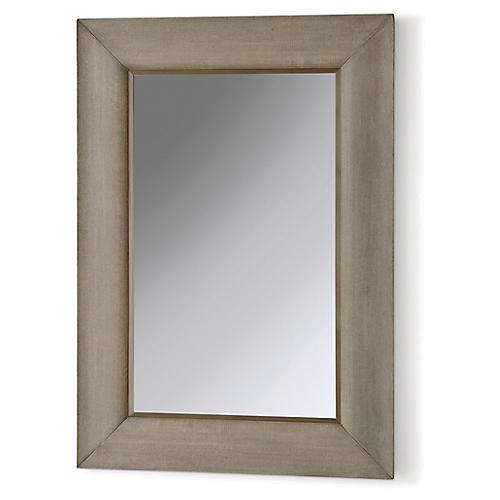 Toile Oversize Wall Mirror, Glaze Gray