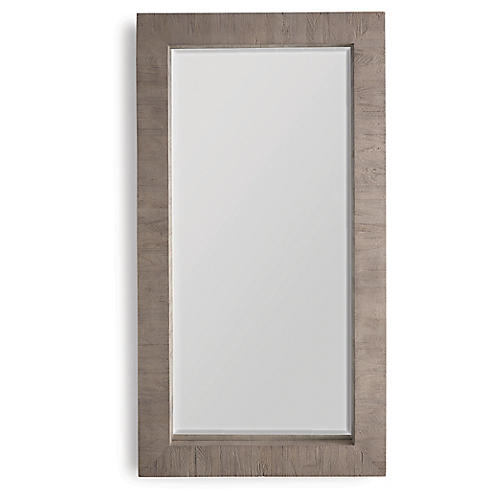 Driftwood Collection Floor Mirror, Gray