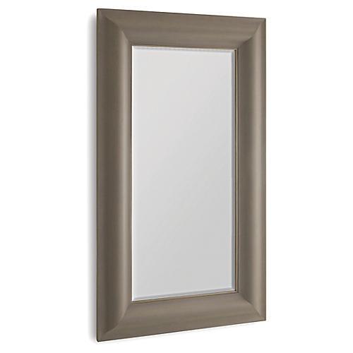 Toile Floor Mirror, Taupe/Brass