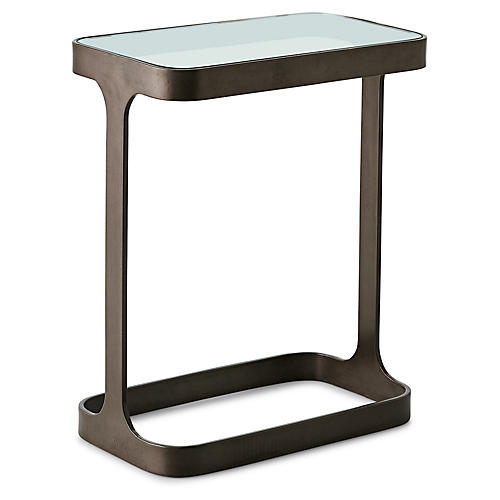 Saddle Side Table, Bronze