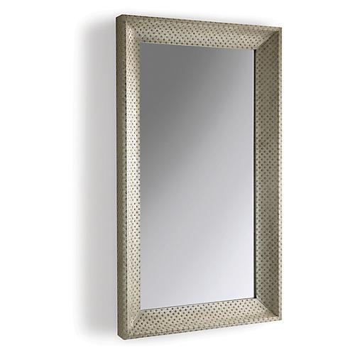 Circo Floor Mirror, Antiqued Nickel