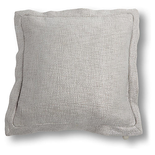 Olmo 20x20 Pillow, Silver
