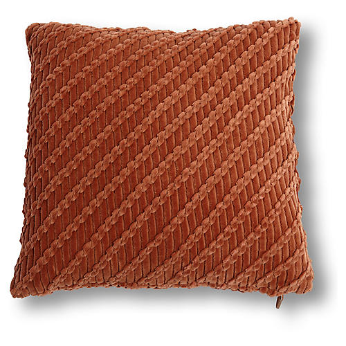 Cooper 20x20 Pillow, Rust Velvet