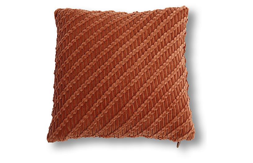 Cooper 20x20 Pillow, Rust Velvet