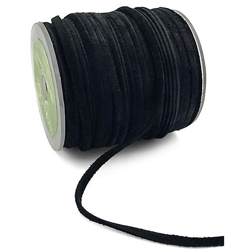 "1/8"" Suede Cord Ribbon, Black"