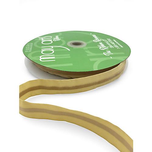 """7/8"""" Stiff Velvet Line Ribbon, Gold"""