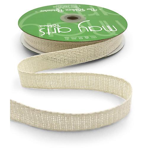 "3/4"" Soft Open-Weave Ribbon, Ivory"