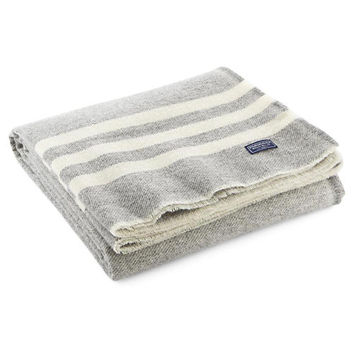 Trapper Wool Throw, Gray