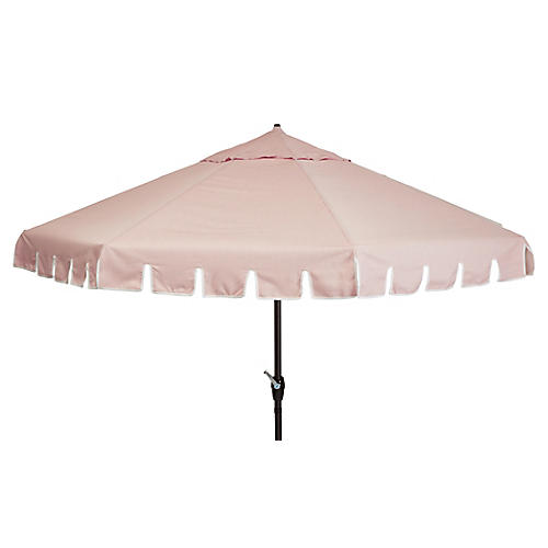 Poppy Patio Umbrella, Light Pink