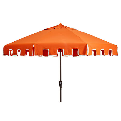 Poppy Patio Umbrella, Orange