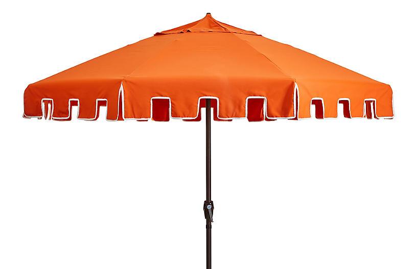 Poppy Patio Umbrella, Orange