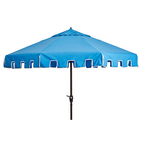 Poppy Patio Umbrella, Sky Blue