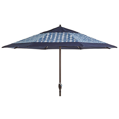 Meaghan Patio Umbrella, Navy/Indigo