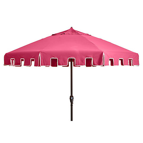 Poppy Patio Umbrella, Hot Pink