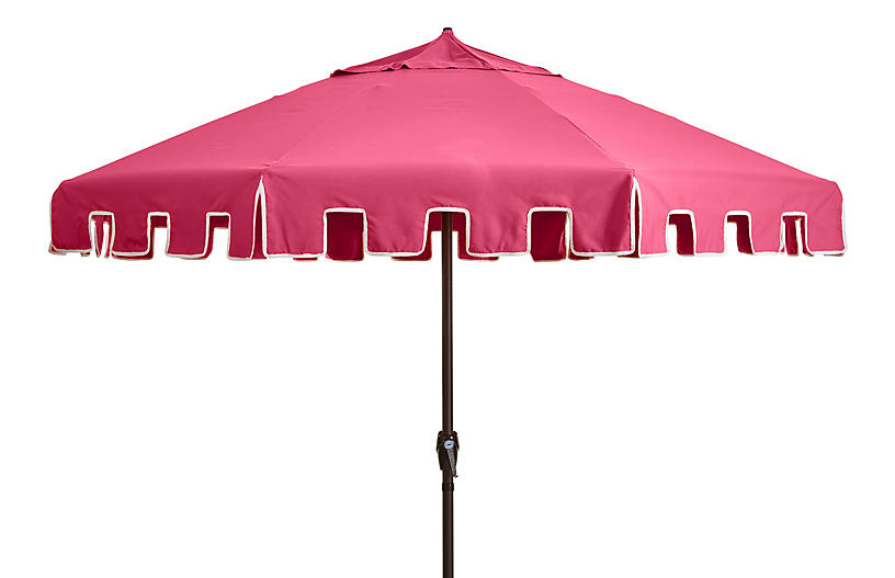 Poppy Patio Umbrella, Hot Pink