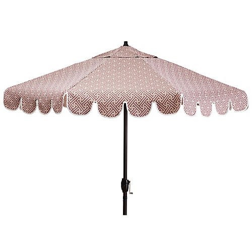 Phoebe Patio Umbrella, Lilac Lattice