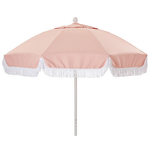 Elle Round Patio Umbrella, Light Pink