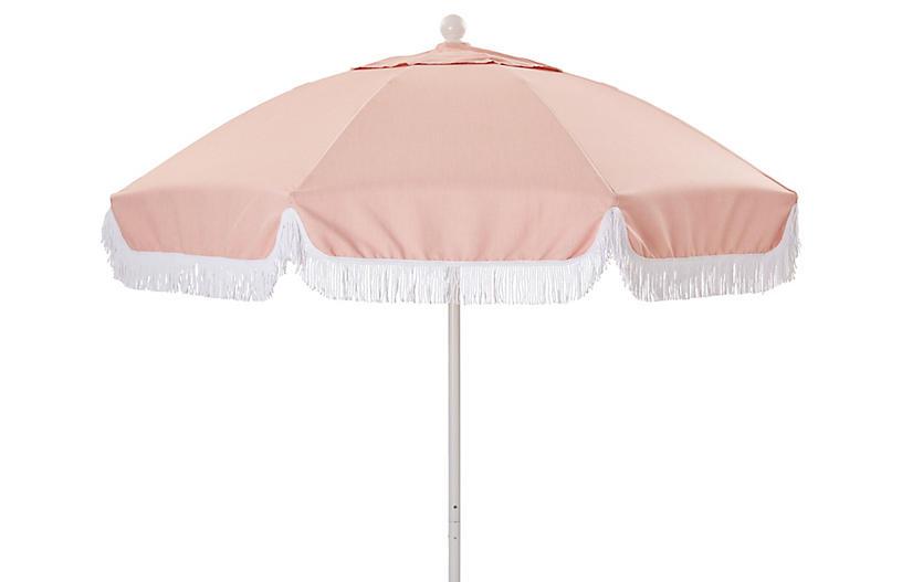 Elle Round Patio Umbrella, Light Pink