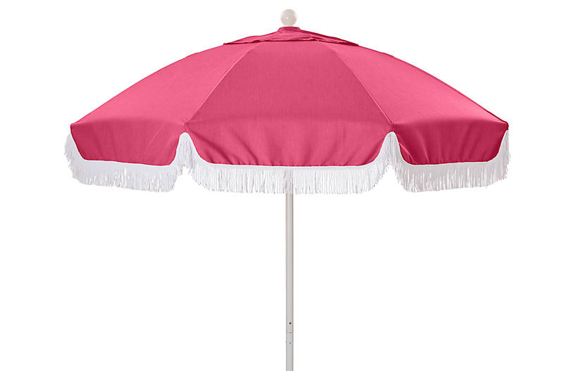 Elle Round Patio Umbrella, Hot Pink