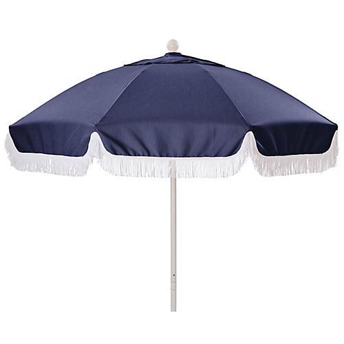 Elle Round Patio Umbrella, Navy