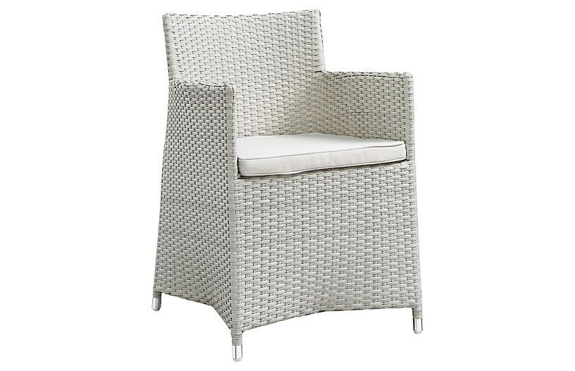 Joelle Outdoor Armchair, Grey