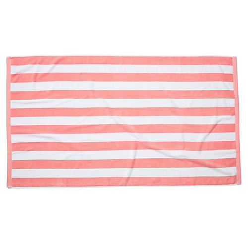 Cabana Stripe Beach Towel, Blush