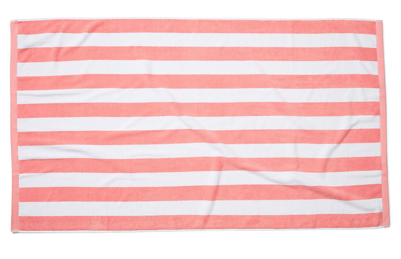 Cabana Stripe Beach Towel Blush One Kings Lane