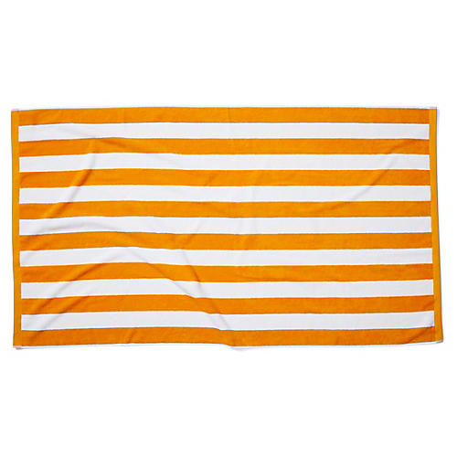 Cabana Stripe Beach Towel, Goldenrod