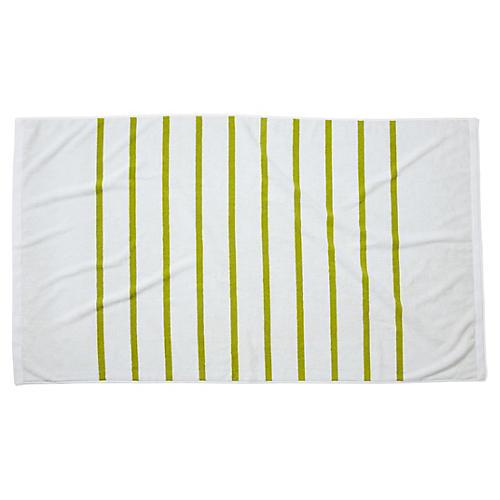 Breton Stripe Beach Towel, Chartreuse
