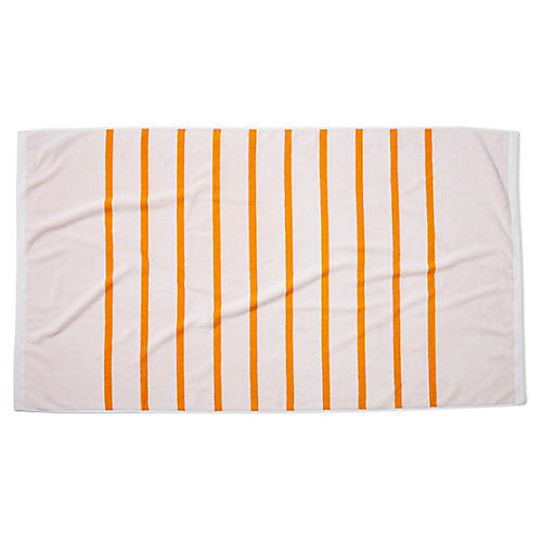 Breton Stripe Beach Towel, Goldenrod