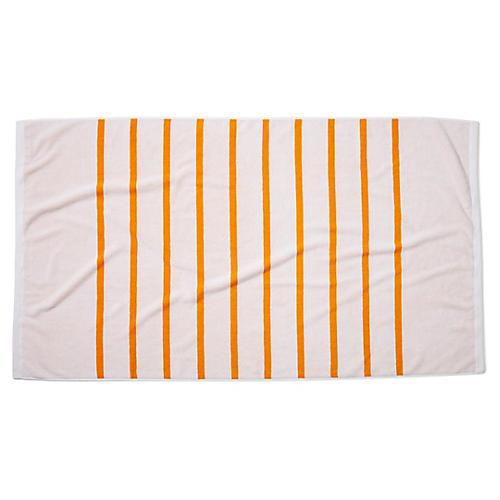 Breton Stripe Beach Towel, Goldenrod