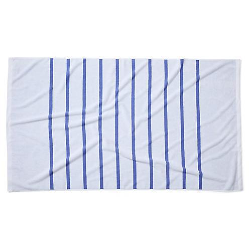 Breton Stripe Beach Towel, Periwinkle