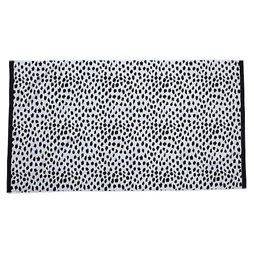 Leopard Beach Towel, Black
