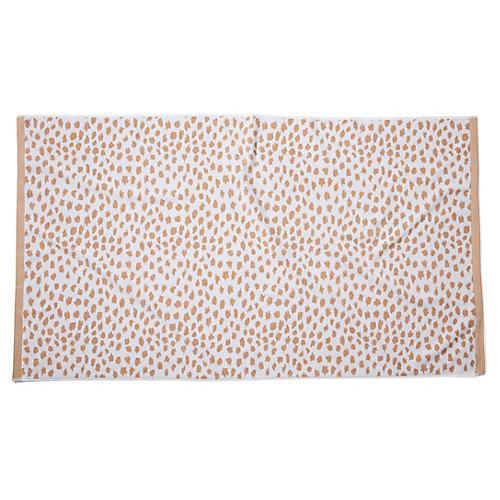 Leopard-Spot Beach Towel, Sand