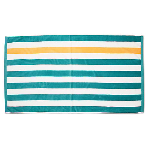 Montauk Beach Towel, Teal