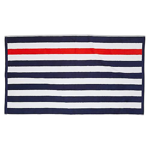 Montauk Beach Towel, Navy