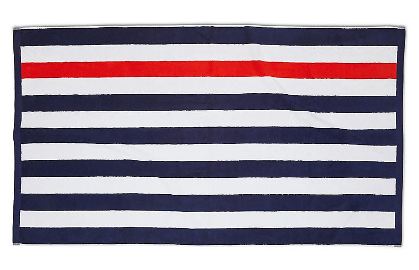 Montauk Beach Towel, Navy
