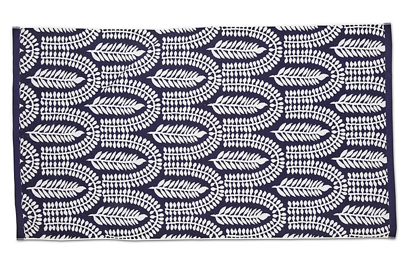 Delilah Beach Towel, Navy