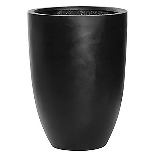 "22"" Bellino Round Planter, Black"