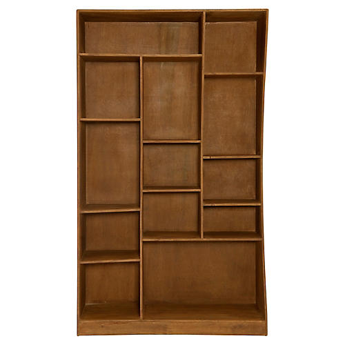 Carver Left Bookcase, Dark Amber