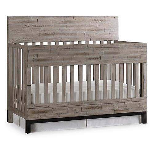 Romero Crib, Barnwood Gray