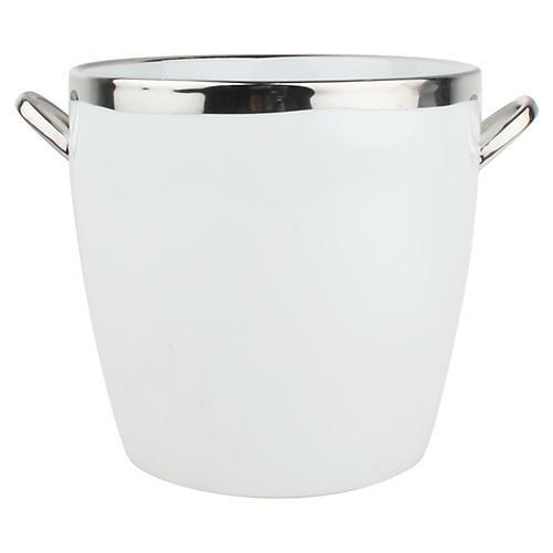 Dauville Ice Bucket, White/Platinum