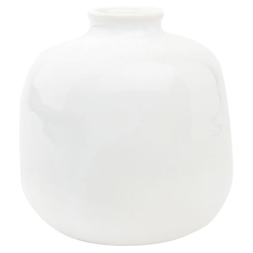 """4"""" Morandi Large Bud Vase, White"""